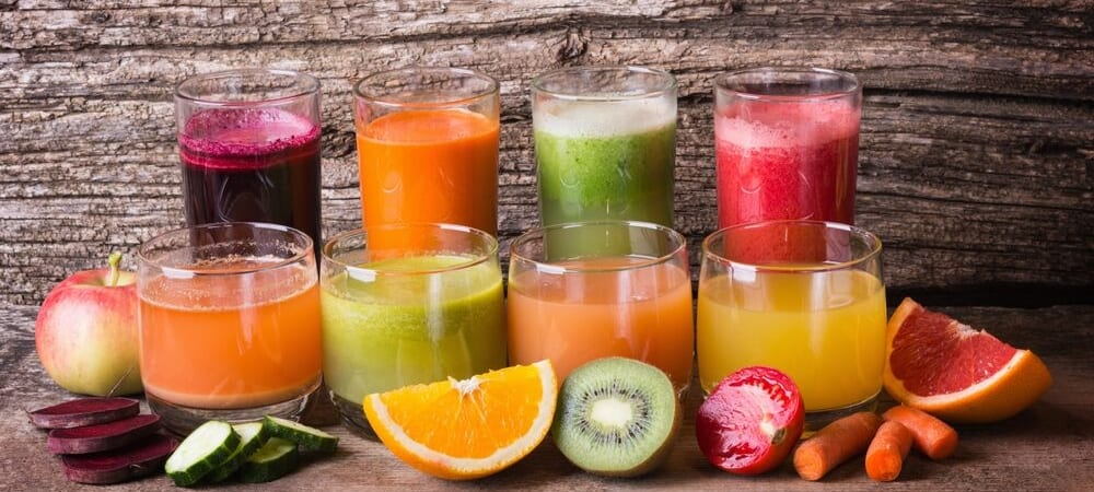 different fruit juice