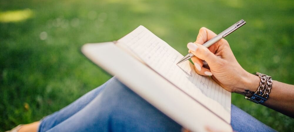 person writing