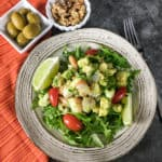 Low carb shrimp avocado salad