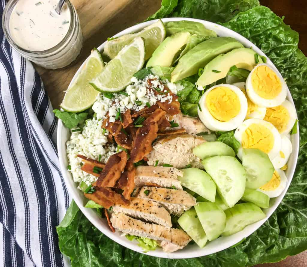 keto/low carb cobb salad