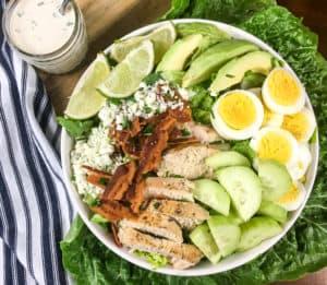 keto/low carb cobb salad